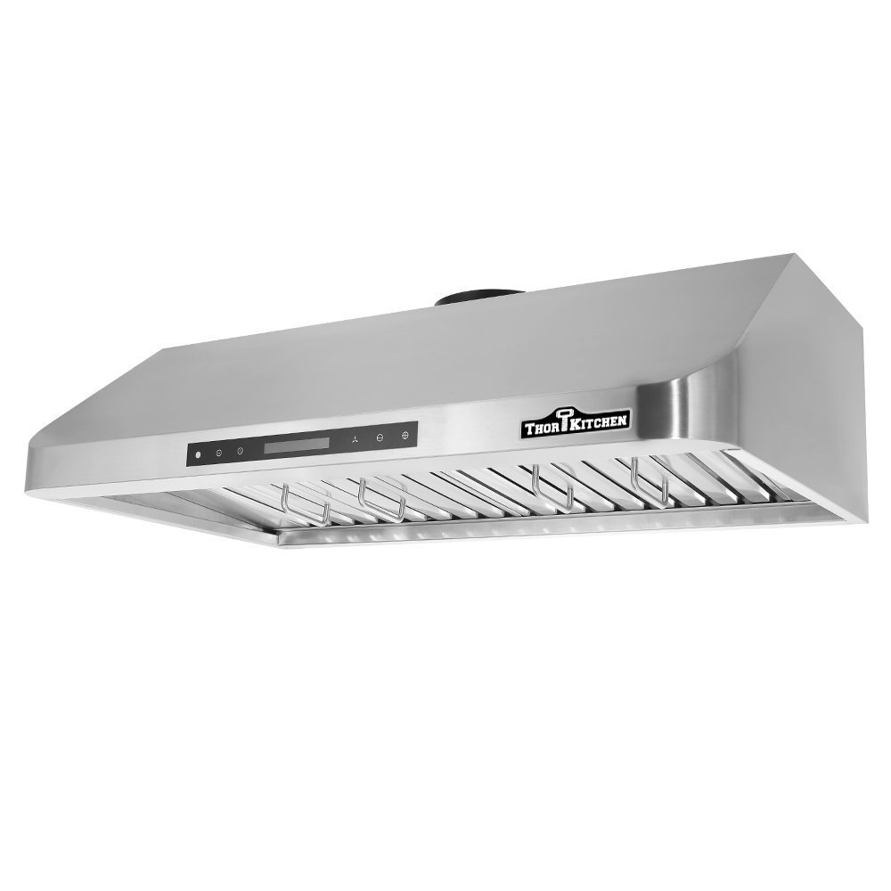 Docooler THOR KITCHEN Stainless Steel Under Cabinet Range Hood 900 CFM Kitchen Ventilator Baffle Filter 30in/36in/48in