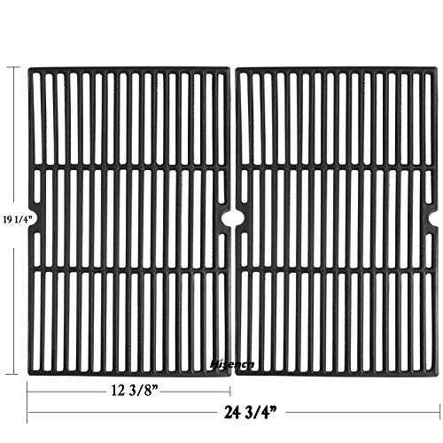 (Hisencn Universal Cast Iron Cooking Grid Grill Grate Replacement Parts for Charmglow,Jenn-Air,Weber,BBQ Grillware GGPL-2100,Costco Kirkland,Aussie,Grill Zone,Kenmore, Nexgrill.Gas Grill)