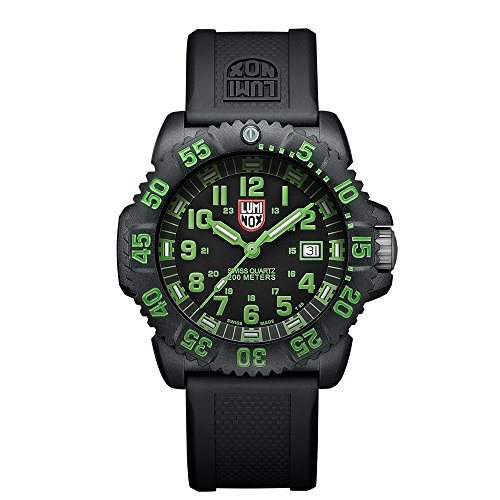 Luminox Sea Navy Seal Colormark 3050 Men's Green Arabic Numerals Watch A.3067