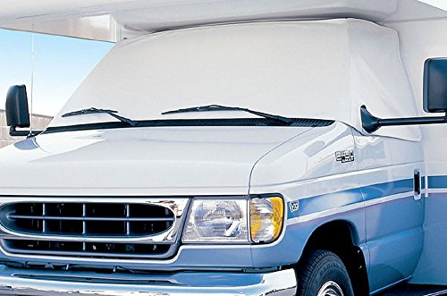 Eevelle Expedition RV Windshield Cover for Class C RV, White -