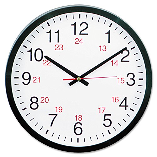 McKesson Universal 10441 24-Hour Round Wall Clock, 12 5/8