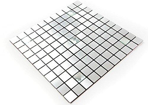 And Stick Tiles Ceramic Peel (ROSEROSA Peel and Stick Tile Metal Backsplash for Kitchen, Wall Tiles Aluminum Surface : Pack of 5 (Metal-403))