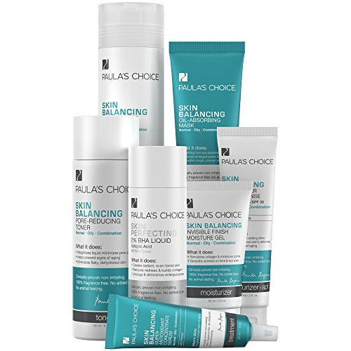 - Paula's Choice Skin Balancing System Includes Oil-Reducing Facial Cleanser, Skin PERFECTING 2% BHA Exfoliator, Moisturizer with SPF, Night Cream, Toner for the Face, Face Mask, Retinol Serum