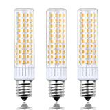 8.5W Ceramic E17 LED Microwave Bulbs Lustaled E17 Intermediate Base LED Light Bulb 100W Halogen Bulb Equivalent Warm White 3000K for Refrigerator Stove Kitchen Appliance Lighting (3-Pack)