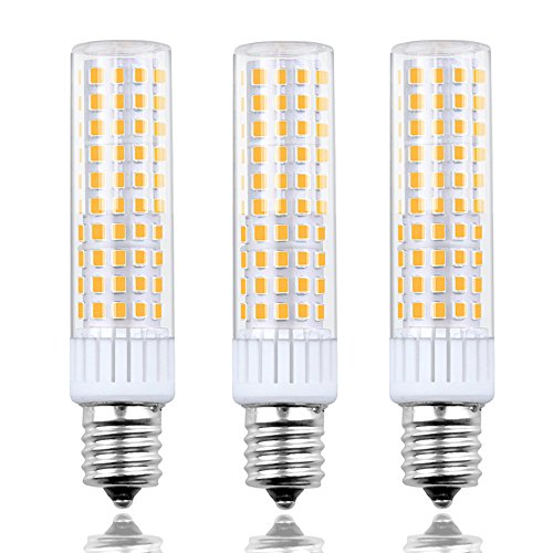 8.5 Watts Dimmable E17 LED Appliance Bulbs Lustaled 120V E17 Intermediate Base LED Ceiling Fan Bulbs 100W Halogen Replacement Daylight 6000K for Refrigerator Microwave Ovens Reading Lamps (3-Pack) 100 Watt E17 Medium Base