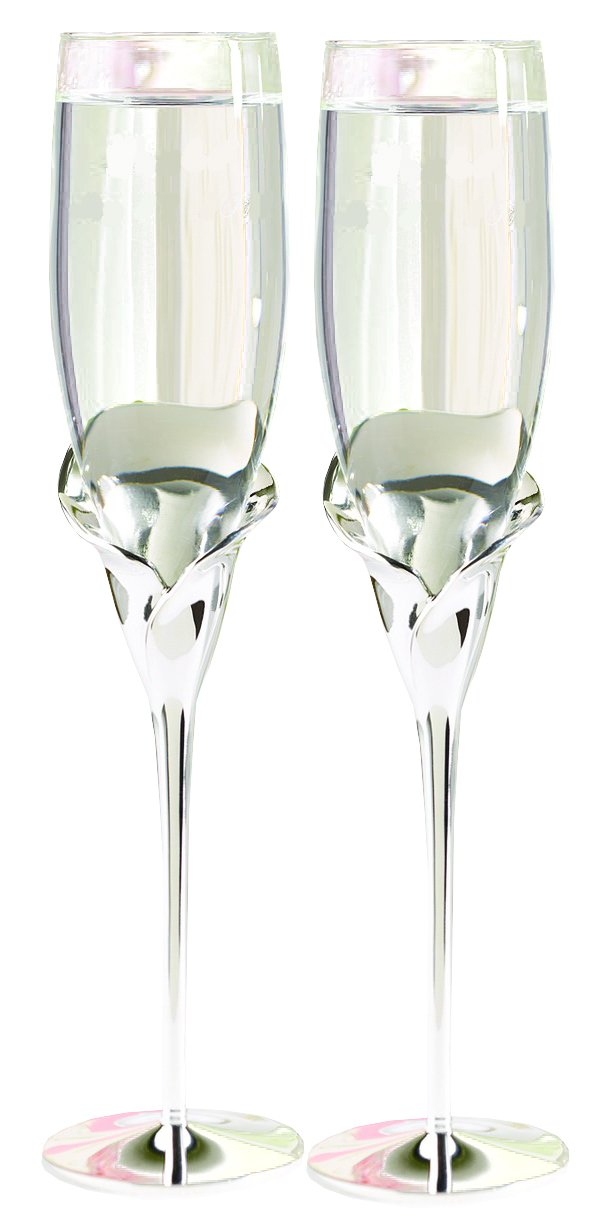 Hortense B. Hewitt Wedding Accessories Champagne Toasting Flutes, Butterfly Beauty, Set of 2 11343