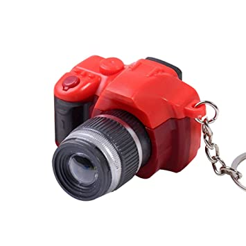 SEGRJ - Llavero con luz LED para cámara réflex Digital, Red ...