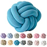 EASTSURE Handmade Knot Pillow Knit Decorative Ball Cushion Decor for Sofa Bed Nursery Toy (Coral Blue)