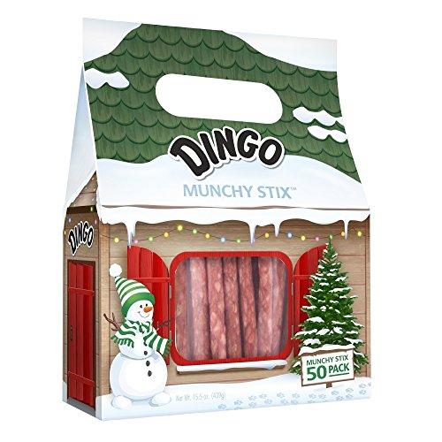 Dog Munchy Stix - Dingo 50 Count Christmas Munchy Chew Stix, One Size