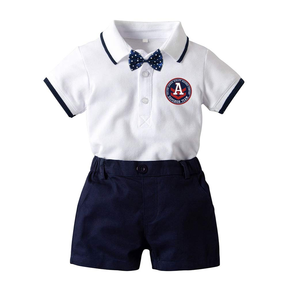 Shorts Formal Outfits Set ESHOO Baby Boys Gentleman Suit Bow Tie Romper Shirt