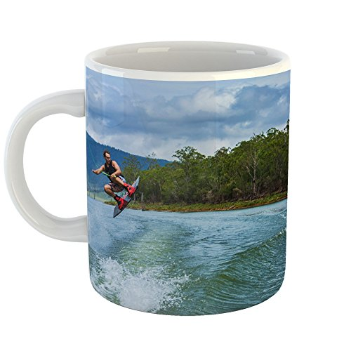 Westlake Art - Coffee Cup Mug - Waterskiing Wakeboarding - Modern Picture Photography Artwork Home Office Birthday Gift - 11oz (*9m-f24-b83)