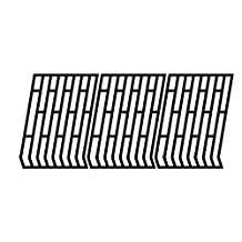 Matte Cast Iron Cooking Grid Replacement for Select Fiesta Gas Grill Models, Set of 3