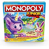 Monopoly Junior: Unicorn Edition Board Game for 2-4 Players, Magical-Themed Indoor Game for Kids Ages 5 and Up (Amazon Exclusive)