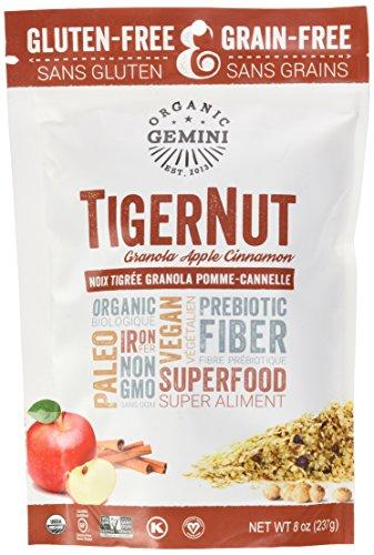 TigerNut Raw Granola (Apple - Cinnamon, 1 x 8oz)