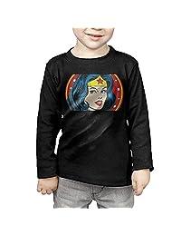 Toddler's Wonder-Woman-01 Long Sleeve T Shirts Black