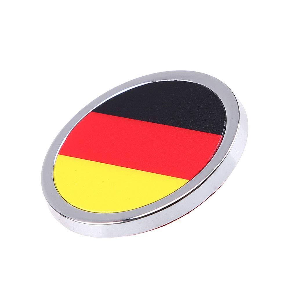 1 Pcs Voiture Ext/érieur Accessoires Allemagne Drapeau National 3D Autocollant En M/étal Mini Embl/ème Rond