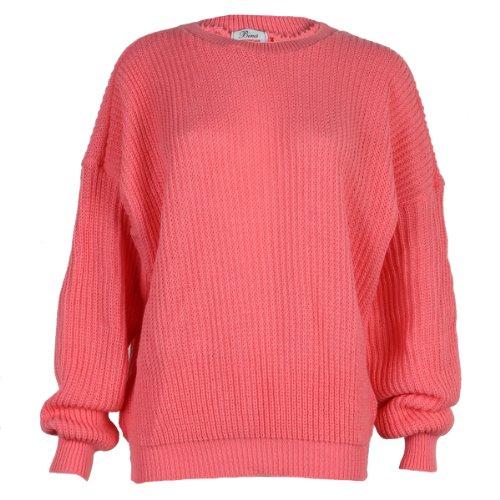 Jersey grueso para mujer (9L) Coral Orange