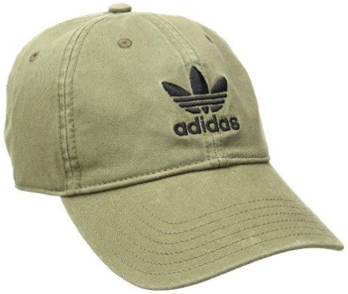Logo Cap Olive - adidas Men's Originals Relaxed Fit Strapback Cap, One Size, Olive