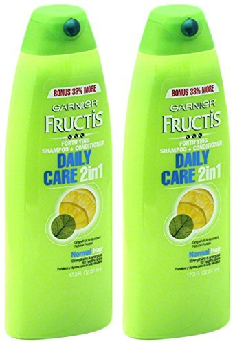 Garnier Fructis Daily Care 2-in-1 Shampoo and Conditioner, Twin Pack 17.3 Ounce ()