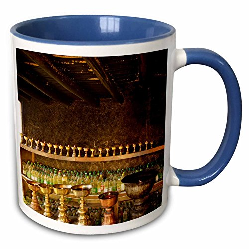 3dRose Danita Delimont - Monasteries - Yak Butter, Thiksey monastery, Ladakh - AS10 JMS0135 - Jaina Mishra - 15oz Two-Tone Blue Mug (mug_132564_11)