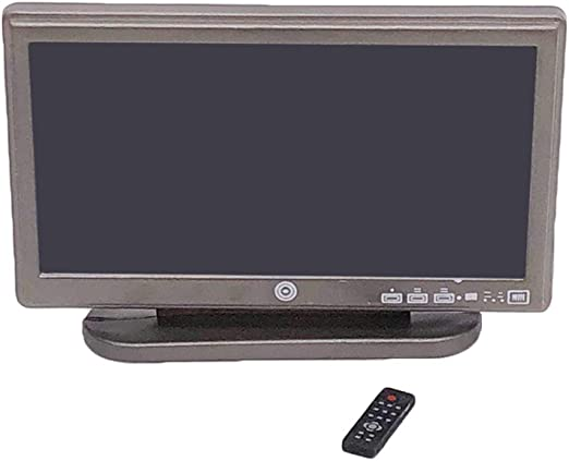 Miniature Flat TV /& Remote Control Widescreen For 1:12 Dollhouse Room Furniture