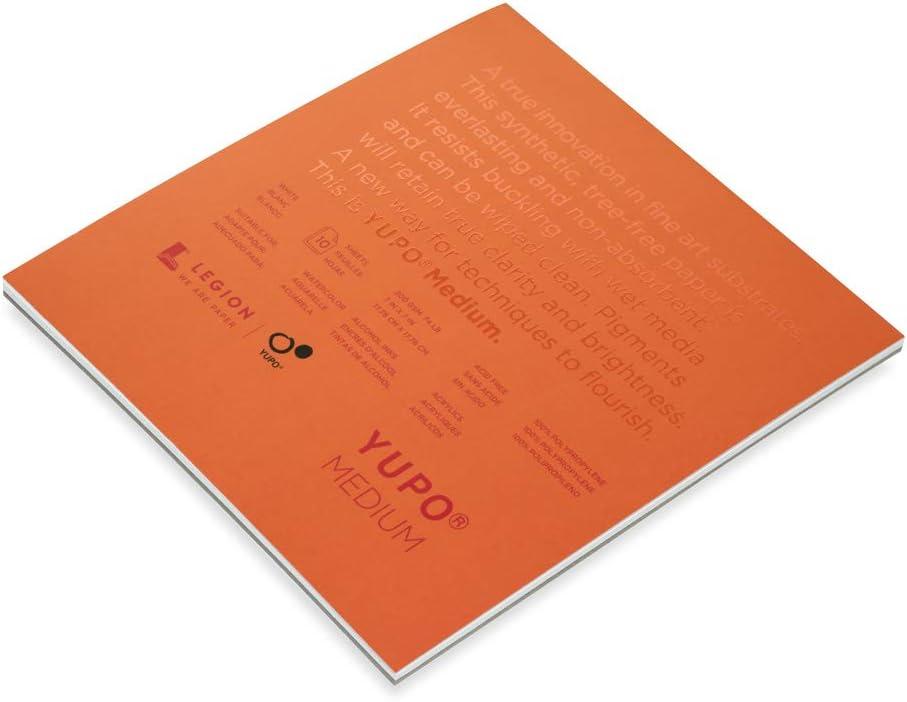 Yupo Paper Yupo Medium Paper Pad 7X7 10 Sheets//Pkg-White 74lb