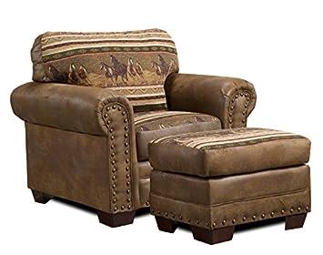 American Furniture Classics 4-Piece Wild Horses Sleeper Sofa