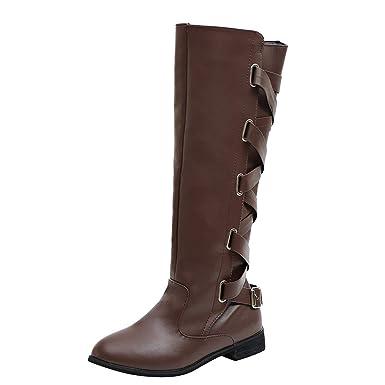 Zapatos de Mujer, ASHOP Casual Planos Loafers Mocasines de Puntera otoño Invierno Botas de Vaquero