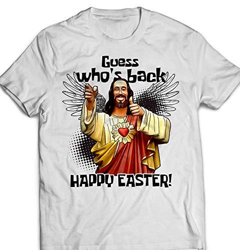 (Guess Who's Back Happy Easter Jesus Lord Christian Customized Handmade T-Shirt Hoodie/Long Sleeve/Tank Top/Sweatshirt)