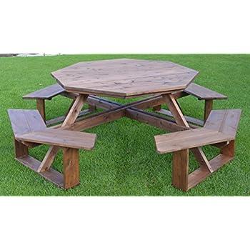 Amazoncom AL Furniture AmishMade Octagonal Cedar WalkIn - Walk in picnic table