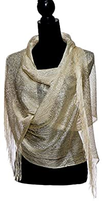 Petal Rose Shawls and Wraps for Evening Dresses - Sheer Bridal Womens Scarves for Prom, Wedding, Party, Bridal - Scarfs for Women with Fringe