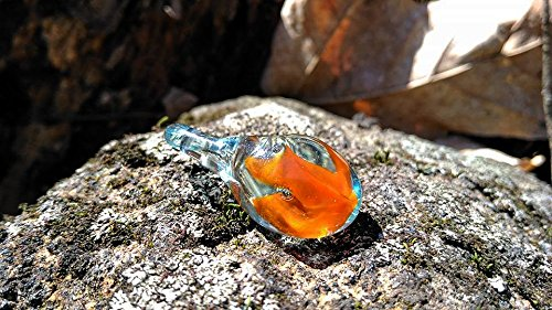 trapped flame heady glass pendant - Heady Glass Pendants