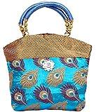 Kuber Industries Women's Handbag (Blue,Fhb106)