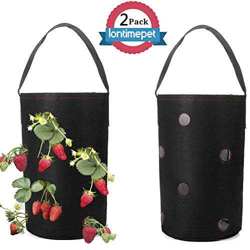 (Hanging Strawberry Planter for Strawberry,Strawberry Planting Grow Bags Non-Woven Strawberry Planter Bags Wall Hanging Planter Planting Bag Plant Grow Bag for Bare Root Plants)
