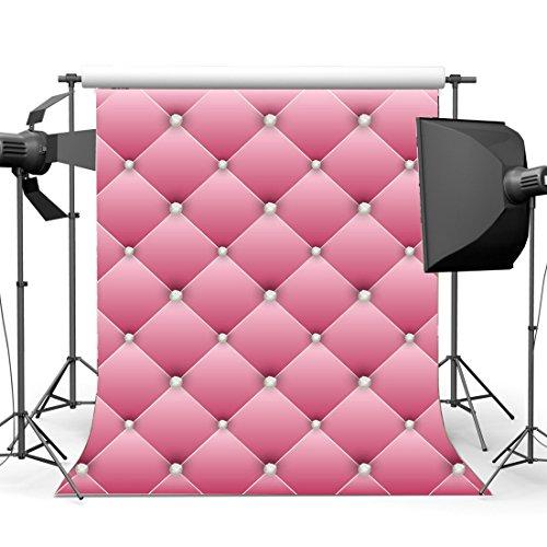 Diamond Fancy Drop - Gladbuy Vinyl 5X7FT Headboard Backdrop Luxurious Leather Backdrops Diamond Fancy Interior Tv Wall Decoration Photography Background for Girls Lover Bridal Shower Party Photo Studio Props KX450
