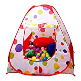 EocuSun Children Kids Play Tent Tents House Pop Up Outdoor Indoor Ball Pit Baby Beach Tent Playhouse w/ Zipper Storage Case for Boys Girls (Polka Dot)