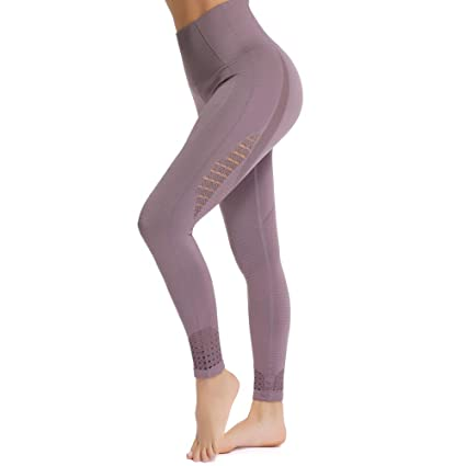Fittoo High Waisted Seamless Yoga Pants Gym Workout Leggings For Women Tummy Control by Fittoo
