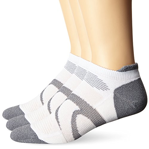 ASICS Intensity Single Tab Socks 3-Pack, White, X-Large (Mens White Ankle Socks Xl)