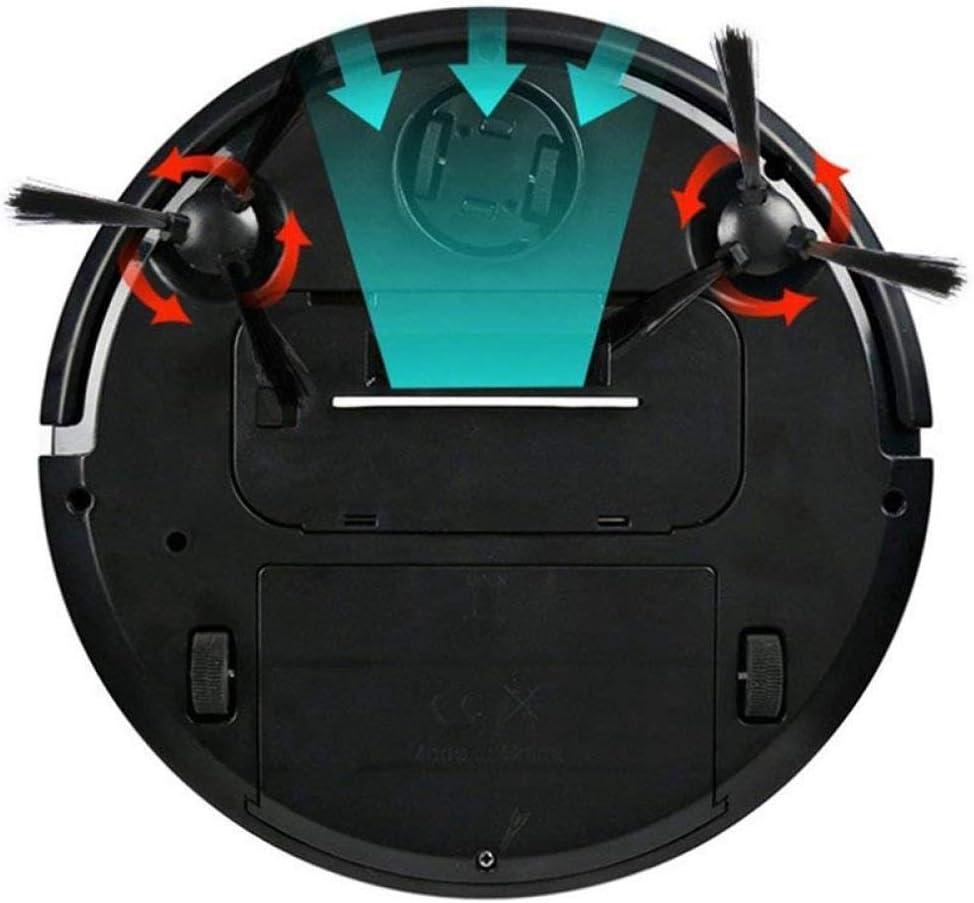 BYBYC Robot de Balayage Intelligent, aspirateur de Charge Robot de Balayage Automatique Mini Machine de Nettoyage Domestique Lazy Smart, Blanc Noir