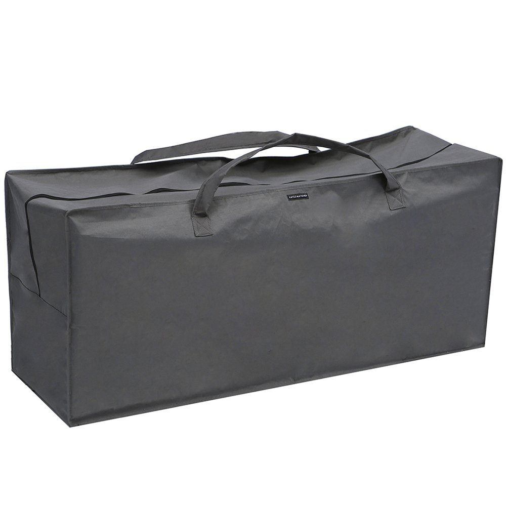 Patio Watcher Outdoor Chair Cushion Storage Bag,Grey