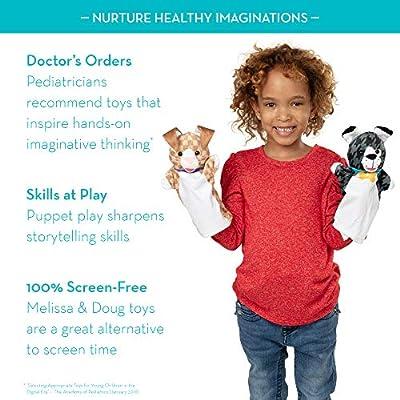 Melissa & Doug Pet Buddies Hand Puppets, Set of 6 (Cat, Dog, Horse, Parrot, Turtle, Rabbit): Toys & Games