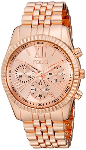 Folio Women's FMDFOL013 Analog Display Quartz Rose Gold Watch - Folio Watch