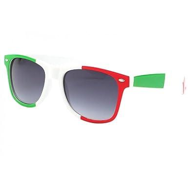 90fee6d7746b70 Lunettes de soleil Italie Verte Blanche et Rouge - Mixte  Amazon.fr ...