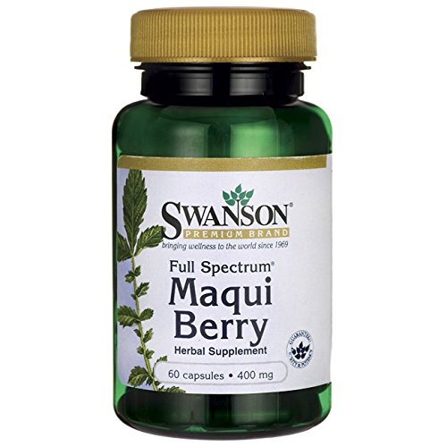 Swanson Full Spectrum Maqui Berry 400 Milligrams 60 Capsules Review