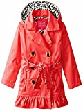 Pink Platinum Toddler Girls' Little Classic Trench W/Satin Lining, Red, 4T