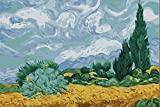 Greek Art Paintworks Paint Color By Number Kit,A Wheatfield with Cypresses Paintworks Painting by Van Gogh,16-Inch by 20-Inch