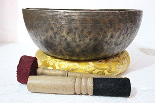 12 Inches Healing Meditation Tibetan Auntic Singing Bowl, Hand Hammered Himalayan Singing Bowls From Nepal by Singing Bowl Nepal