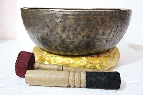 12 Inches Healing Meditation Tibetan Auntic Singing Bowl, Hand Hammered Himalayan Singing Bowls From Nepal