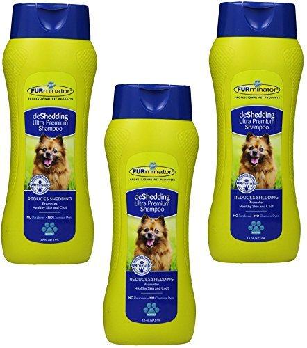 (3 Pack) FURminator deShedding Ultra Premium Shampoo, 16 Ounce each by Furminator