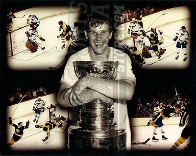 Bobby Orr Boston Bruins Stanley Cup flying goal 8x10 11x14 16x20 montage 1397 - Size 11x14